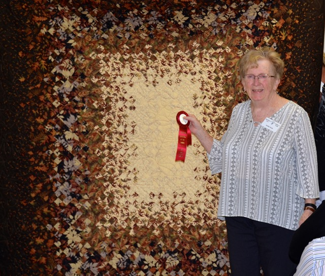 Bed Quilts - 1st Place Show Favorite - 2nd Place Jackie Scott Blooming Nine Patch