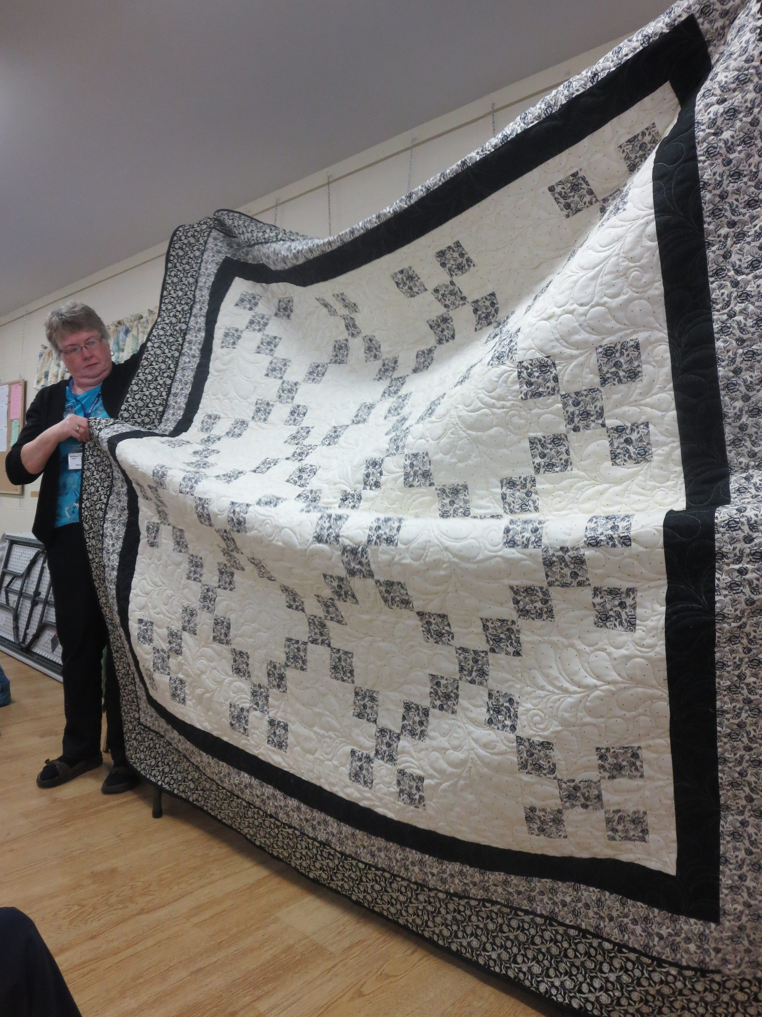 Martha Woodford's Single Irish Chain Quilt