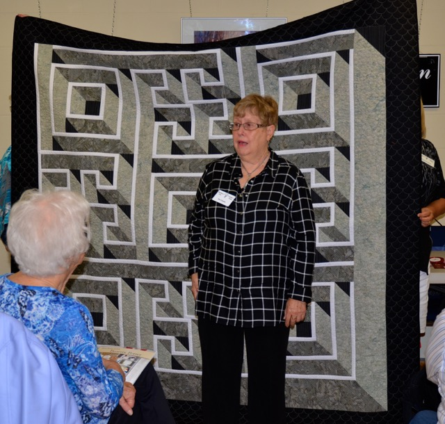 Bed Quilts - 2nd Place Pat Clayton Labyrinth Walk