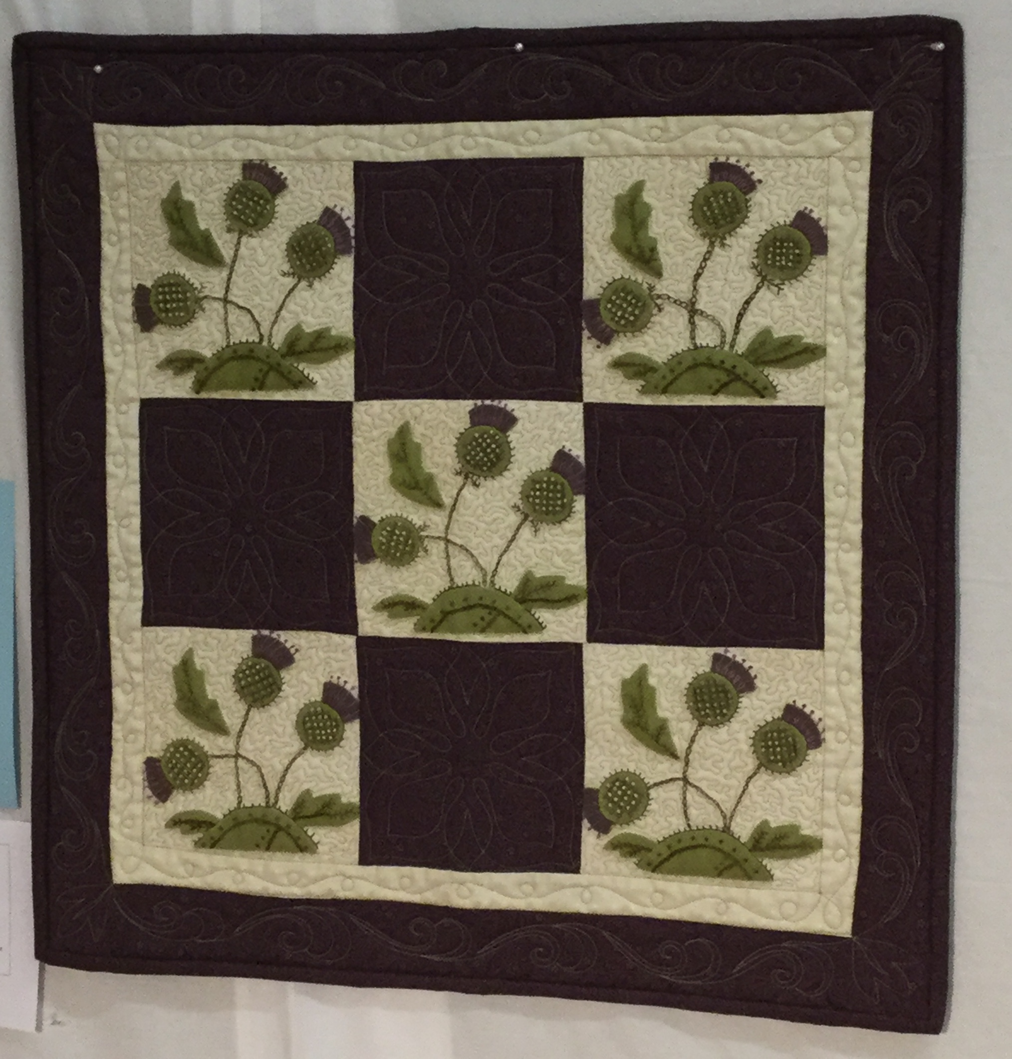 1st Place  Wall Quilts Heather Fraser  Thistles